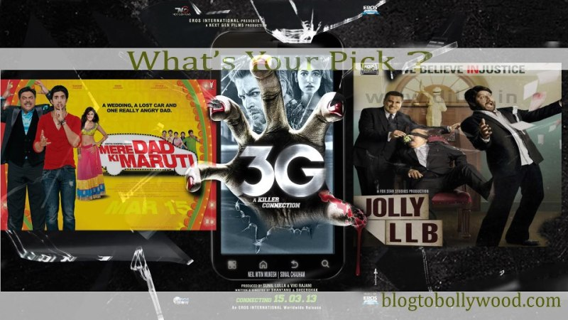 Jolly LLB vs 3G vs Mere Dad Ki Maruti expected Box Office Collections