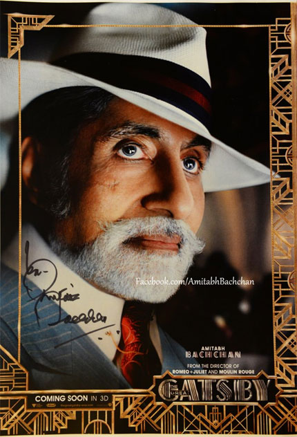 Amitabh Bachchan features in The Great Gatsby poster