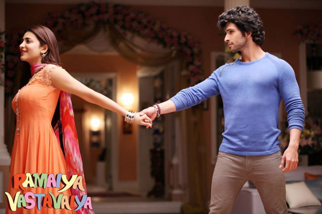 Ramaiya Vastavaiya poster - Girish and Shruti