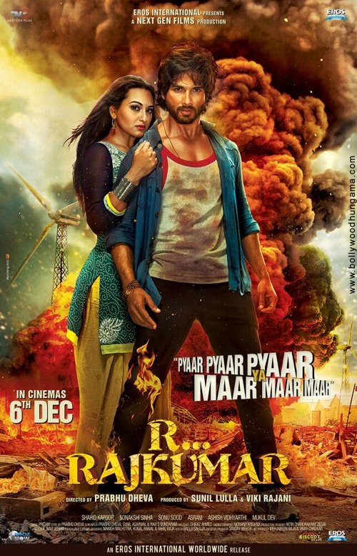 R… Rajkumar  Theatrical Trailer: Its Action, Action and Action.