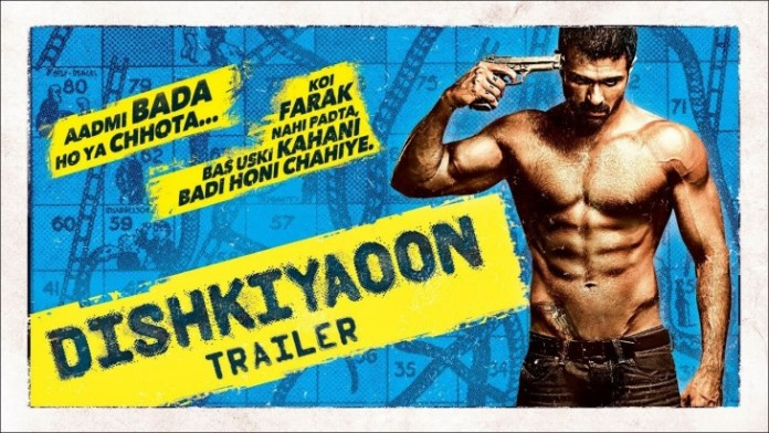Dishkiyaoon Movie Poster featuring Harman Baweja