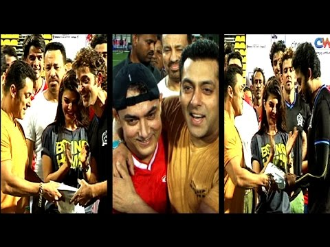 Salman And Aamir in a football charity match hosted by Ira Khan
