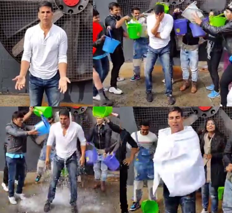 Akshay Kumar takes up the ice bucket