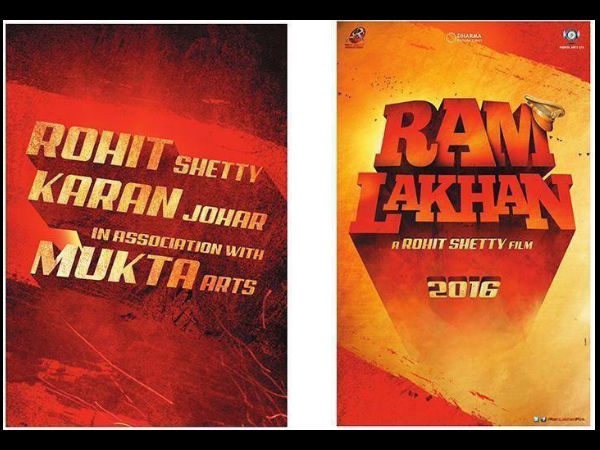 Ram Lakhan Remake : Karan Johar and Rohit Shetty Unites