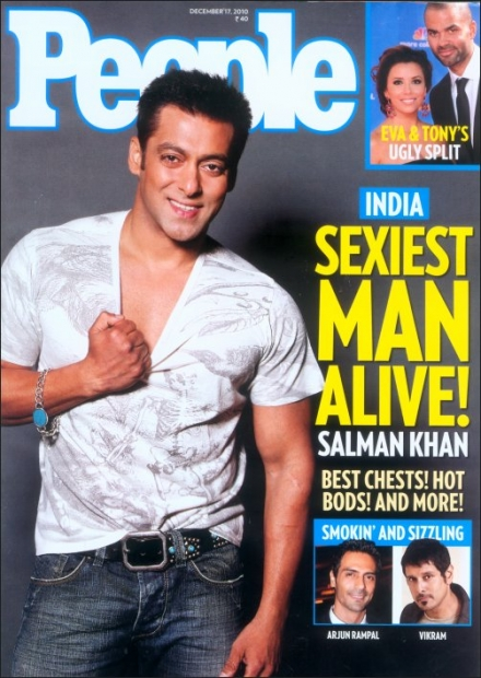Salman Khan voted as the Sexiest Man Alive by People's Magazine, USA