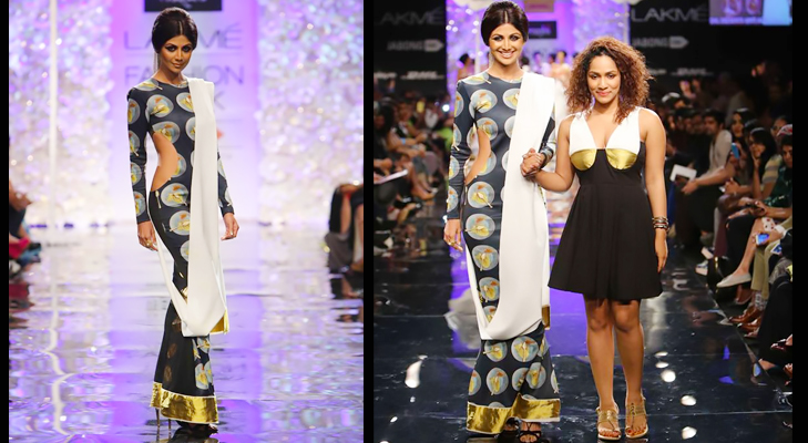 Shilpa Shetty Kundra walks the ramp for Masaba Gupta at Lakme Fashion Week 2014