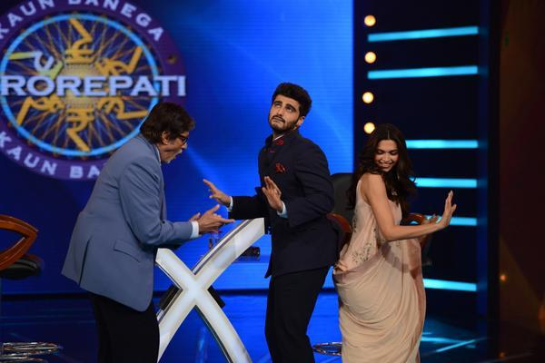 Arjun and Deepika dances with Big B on KBC
