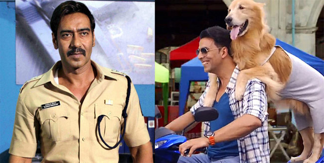 Its Entertainment vs Singham Returns at Box office!