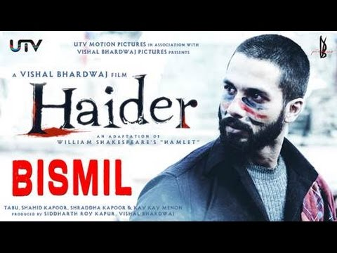 Bismil Video Song | Shahid in a unique avatar for song Bismil from Haider