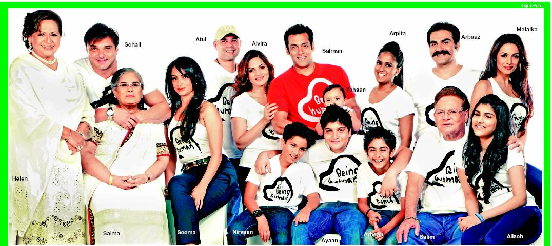 Salman Khan with his KHAN-daan