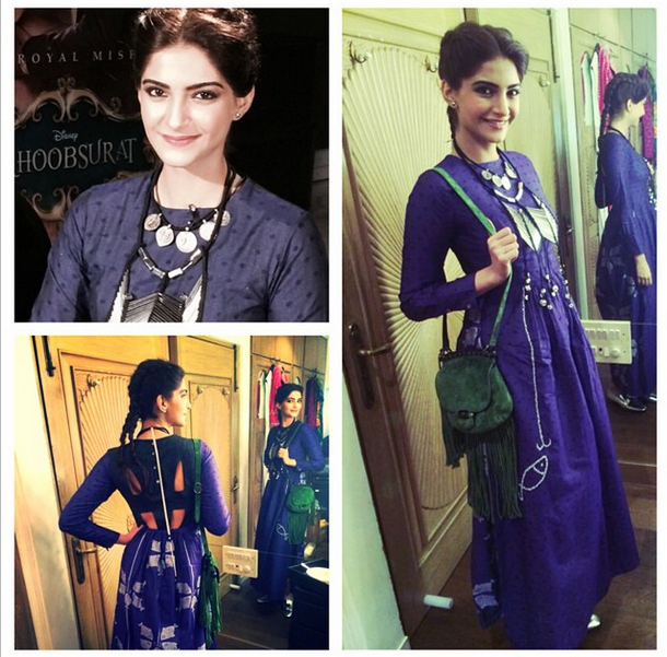 Sonam in a long dress by Debashri Samanta
