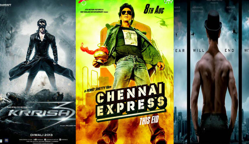 Happy New Year vs Dhoom 3 vs Chennai Express vs Krrish 3 : Box Office Collection