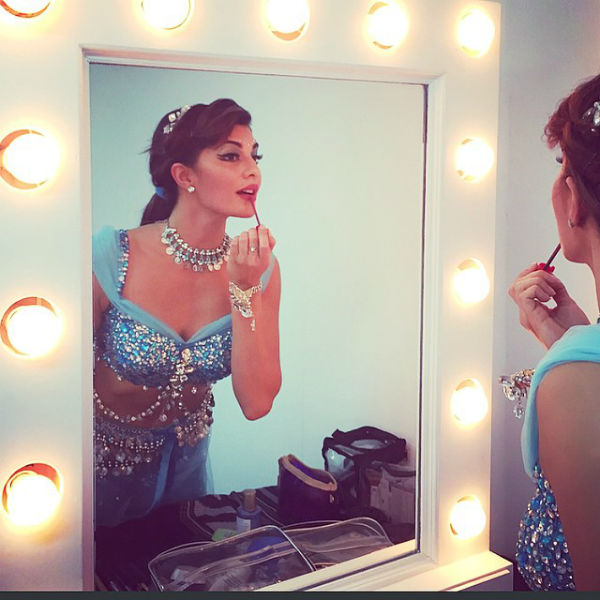 Jacqueline getting ready for her performance - AIBA Awards 2015 Photos