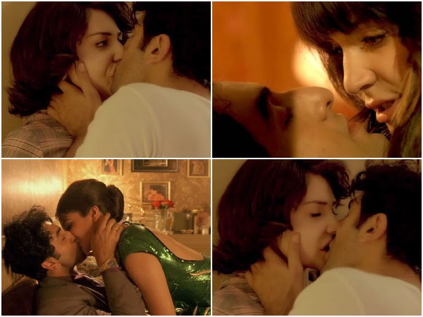 Ranbir and Anushka Kissing scene in Bombay Velvet