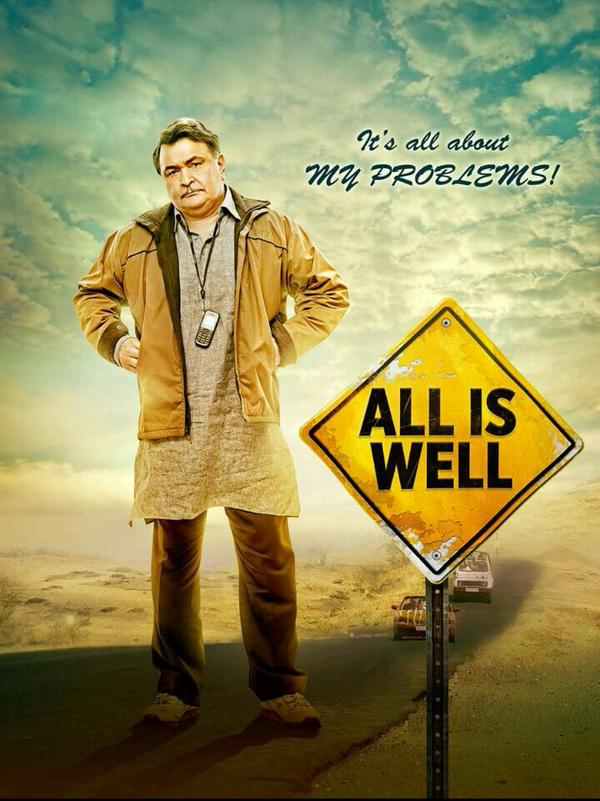 All Is Well First Look Posters - Rishi Kapoor