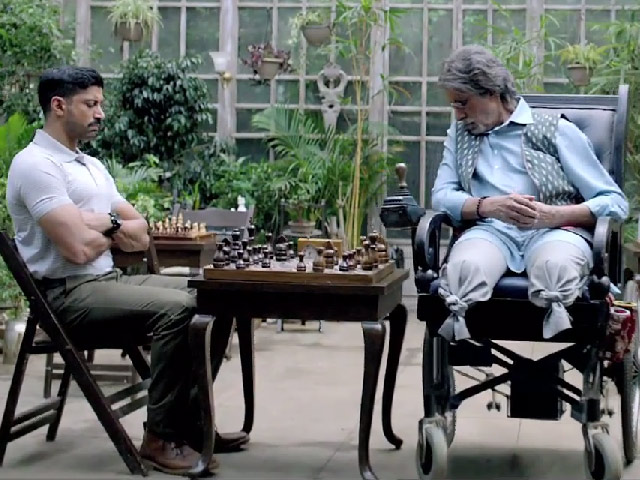 Amitabh and Farhan in Wazir