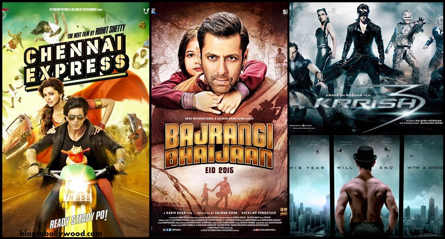 Bajrangi Bhaijaan vs Dhoom 3 vs Chennai Express vs Krrish 3 Box Office Collection