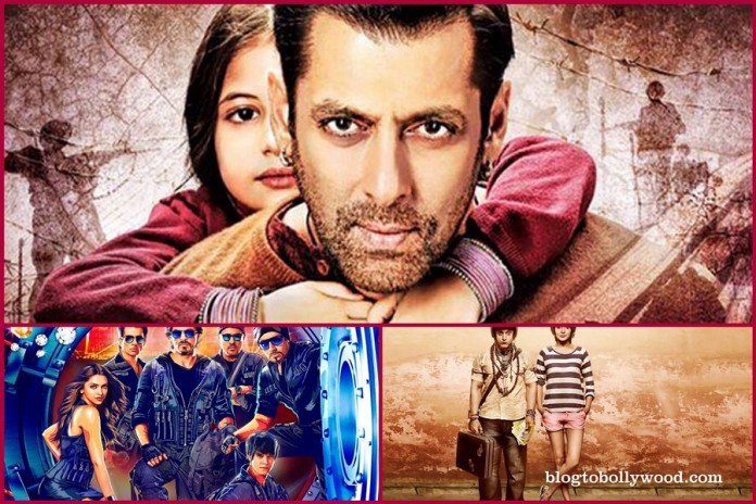 Bajrangi Bhaijaan vs PK vs Happy New Year Box Office Collection
