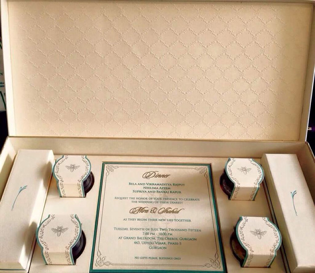 Shahid Kapoor's Wedding Card