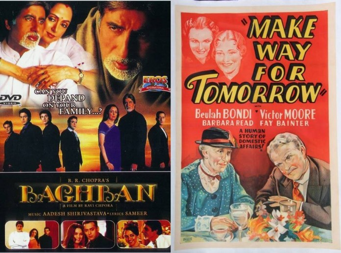 Baghban is a an adaptation of Make Way For Tomorrow