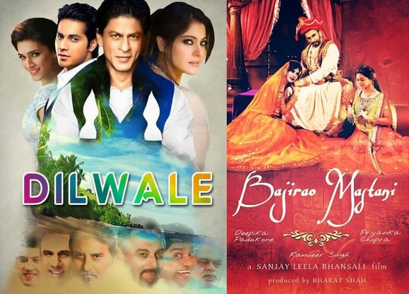 10 Biggest Bollywood Clashes in 2015-2016-Dilwale v/s Bajirao Mastani