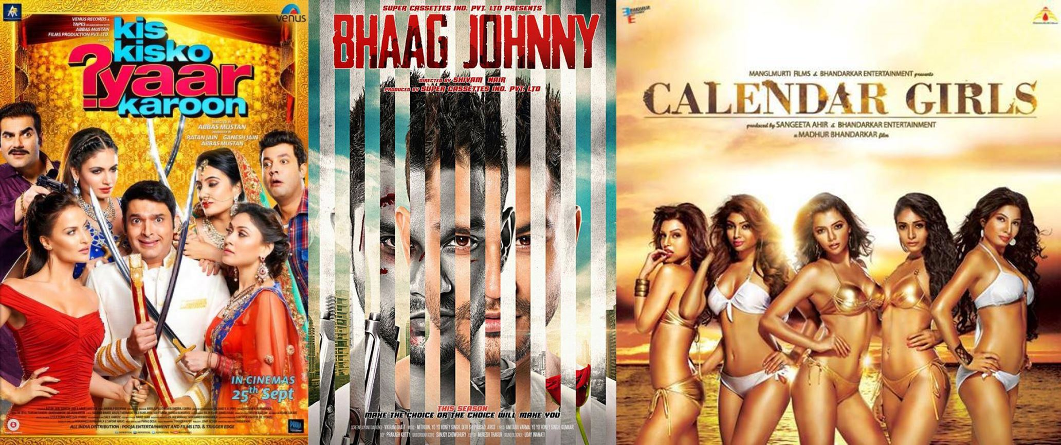 10 Biggest Bollywood Clashes in 2015-2016-Kis Kisko Pyaar Karoon v/s Bhaag Johnny v/s Calendar Girls