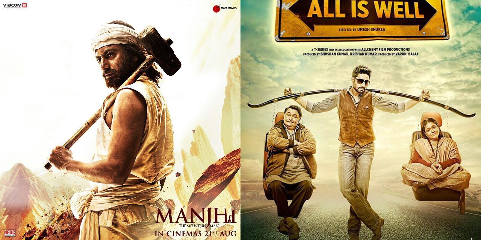 10 Biggest Bollywood Clashes in 2015-2016-Manjhi v/s All Is Well