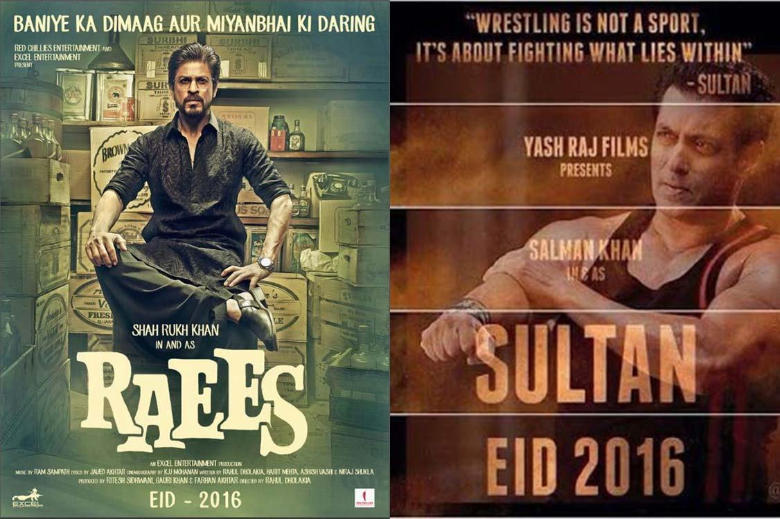 10 Biggest Bollywood Clashes in 2015-2016-Raees v/s Sultan