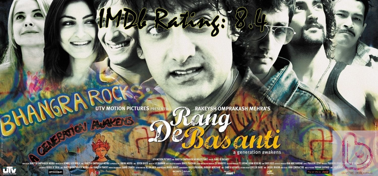10 Top Imdb-Rated Movies of Aamir Khan-Rang De Basanti