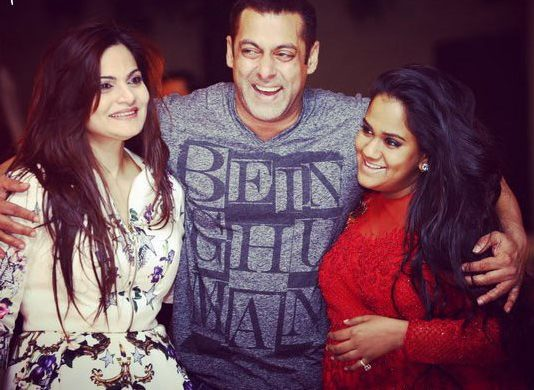 Salman with Alvira and Arpita