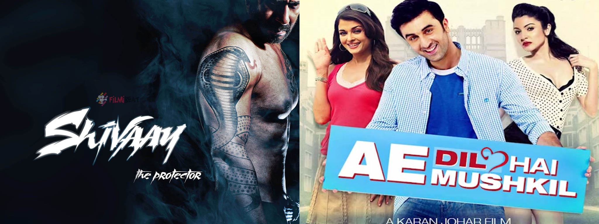 10 Biggest Bollywood Clashes in 2015-2016-Shivaay vs Ae Dil Hai Mushkil