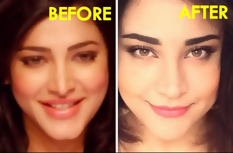 Shruti Hassan-Before & After