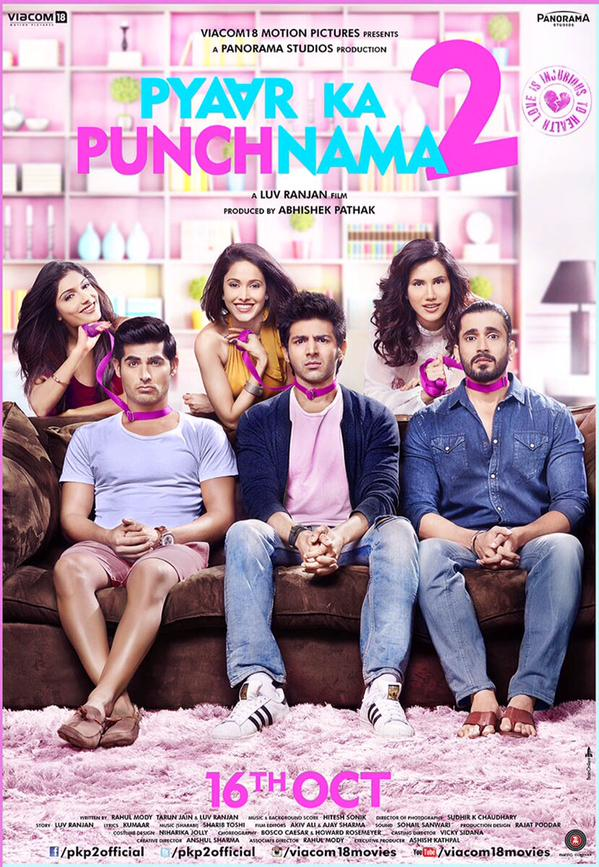 Pyaar Ka Punchnama 2 First Look Poster. Trailer on 3 Sep 2015