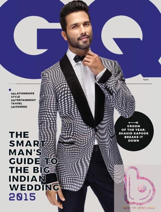 'Groom of the Year' Shahid Kapoor in GQ Cover