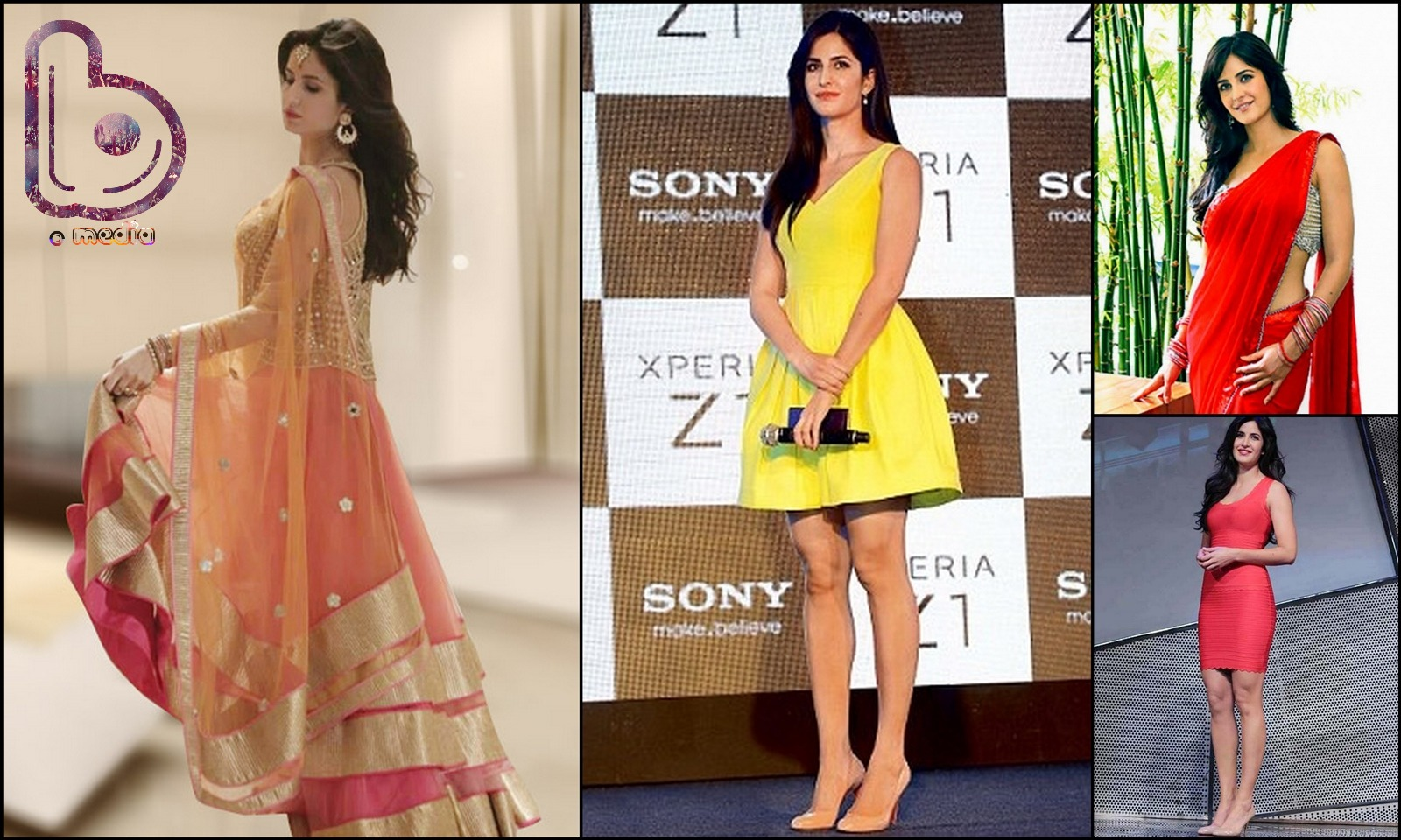 Bollywood Actresses who Rock both the Indian and the Western look!- katrina