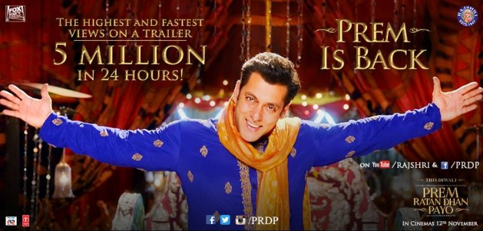 Salman Khan's Prem Rata Dhan Payo Becomes Most Watched Trailer