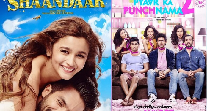 Box Office Report| Pyaar Ka Punchnama 2 crosses 50 crores, Shaandaar Flat at the Box Office