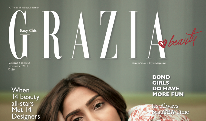 Sonam Kapoor is the cover girl for Grazia's November issue!