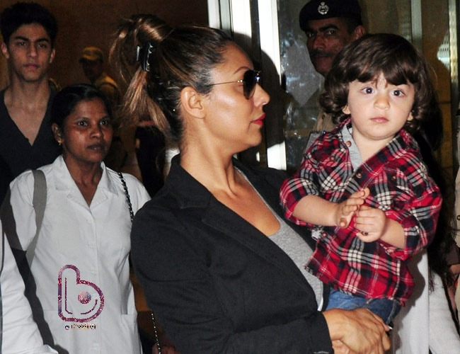Pic of the Day | AbRam Khan learns to pout from Karan Johar!