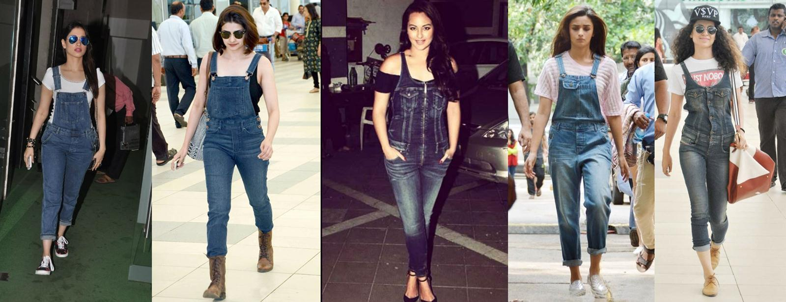 Best of Bollywood Fashion Trends in 2015 | With Pictures - Dungarees