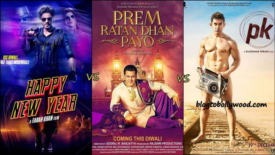 Prem Ratan Dhan Payo Vs Happy New Year Vs PK Lifetime Collection | Day wise Box Office Update