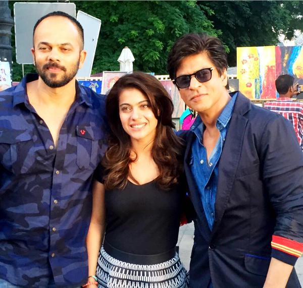 This is what happened behind the scenes on the sets of 'Dilwale'!- rohit