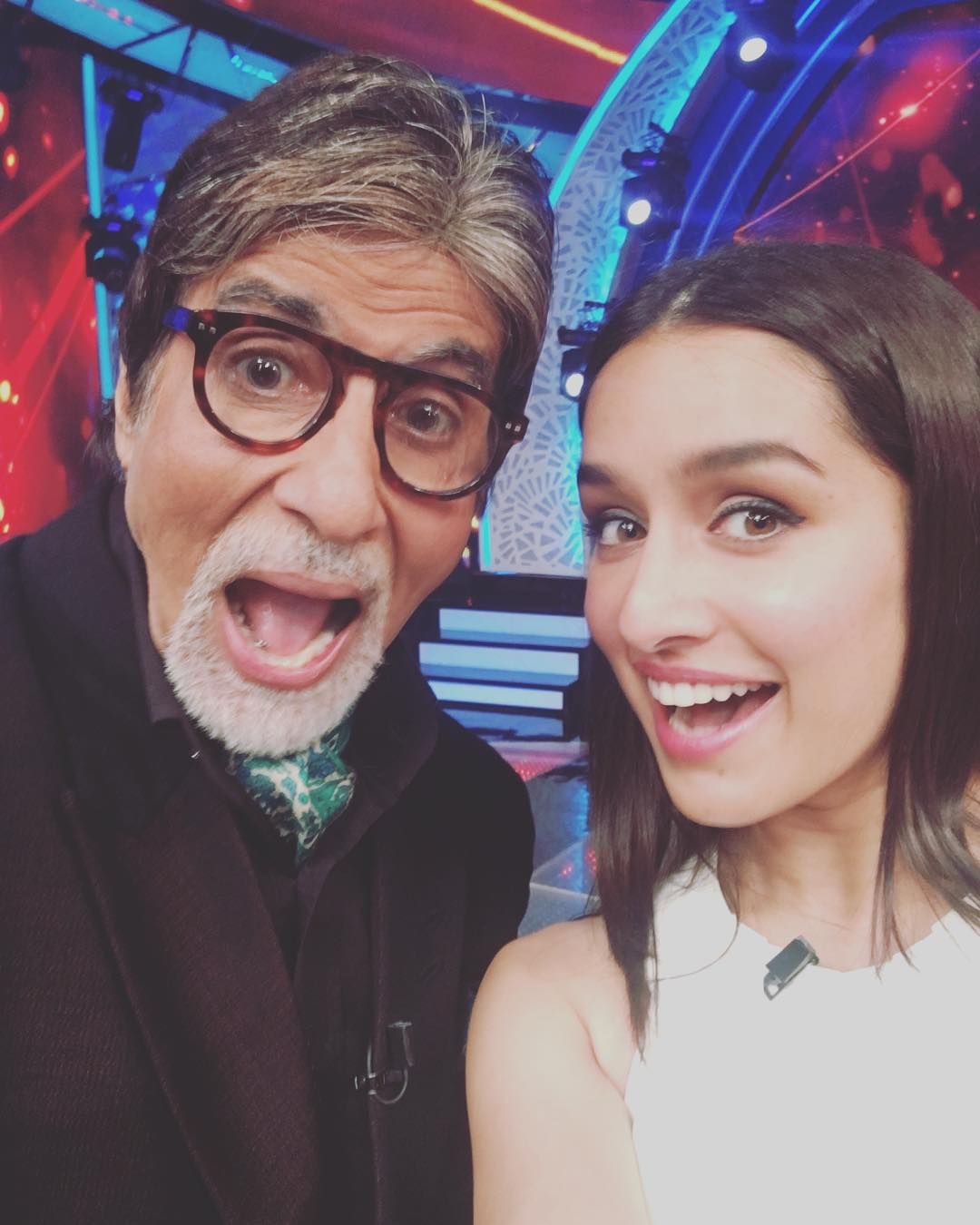 This one is with Amitabh Bachchan - Seriously Shraddha got him clicking too.