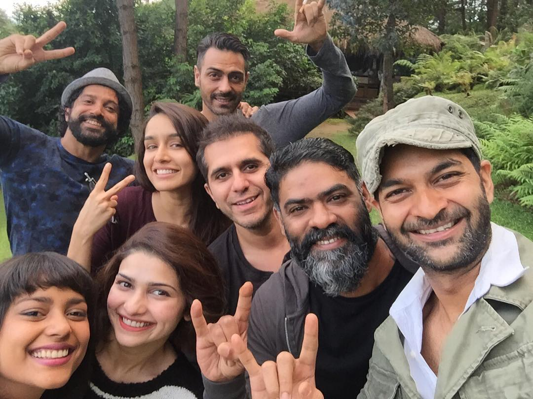 Shraddha Kapoor with Rock On 2 Gang