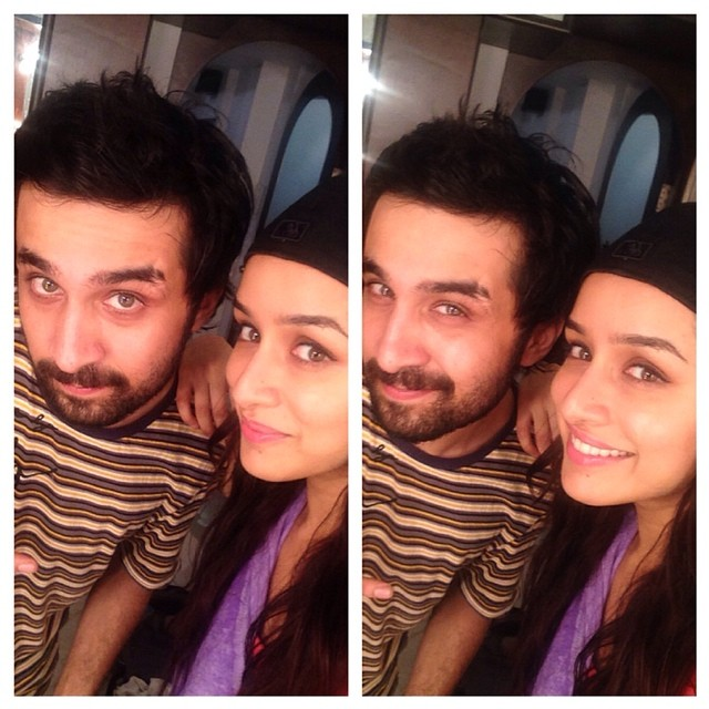 Shraddha Kapoor selfie with Siddhant Kapoor