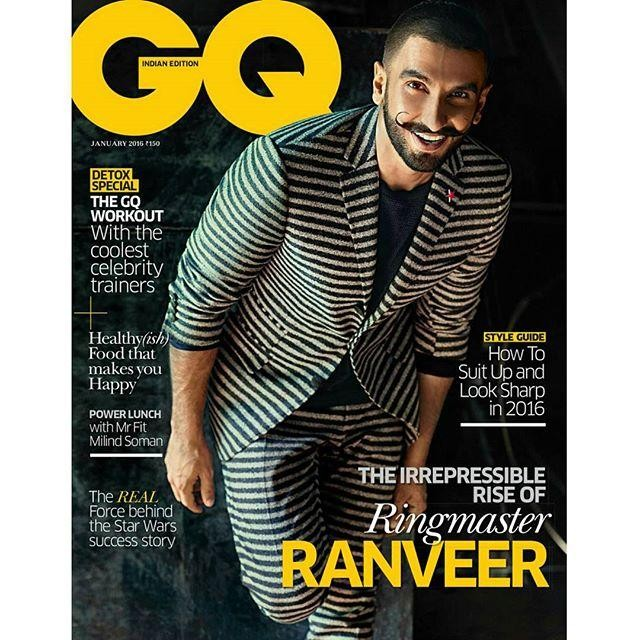 Ranveer Singh, flamboyant Fashion Frenzy features on GQ's January cover