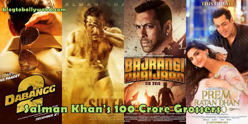 Salman Khan has the most 100 crore movies to his name
