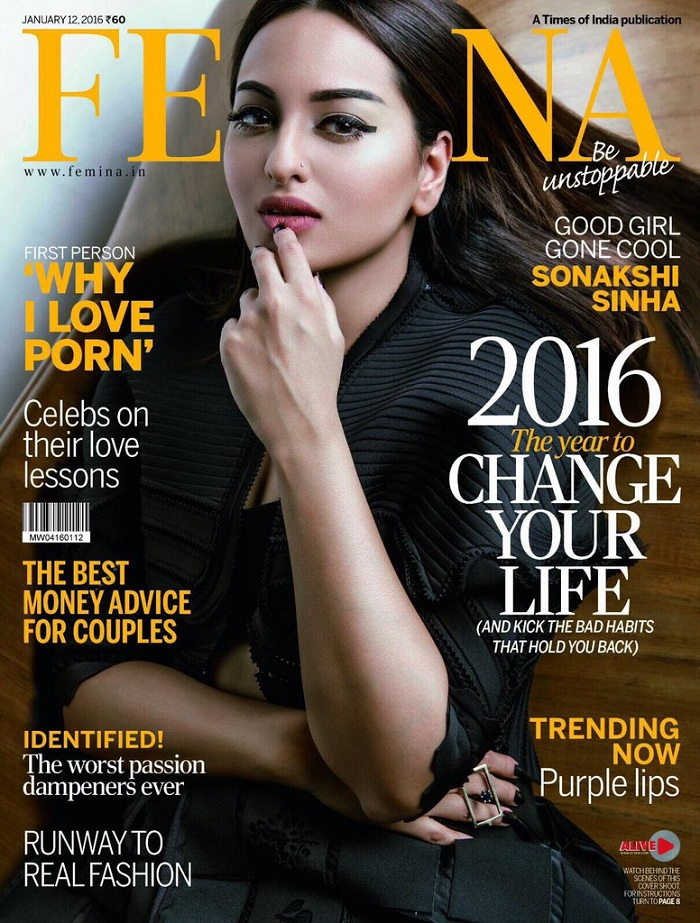 Sonakshi Sinha elegantly shines high on Femina's cover