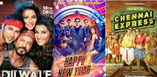 Shahrukh Khan's Top 10 Opening Day Grossers - Happy New Year, Chennai Express, and Dilwale