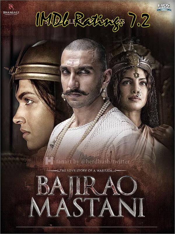 Top 10 IMDb Rated Movies of Deepika Padukone - Bajirao Mastani